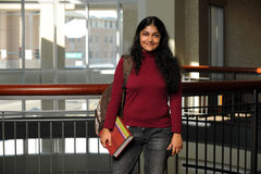 Indian Student Indoors Stock Images