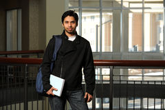 Indian Student nside Building Royalty Free Stock Photos