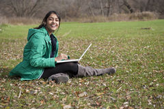 Indian student in outdoor Stock Photography