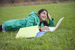Indian student in outdoor Royalty Free Stock Photography