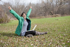 Indian student in outdoor Stock Images