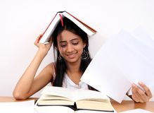 Indian student studying. Royalty Free Stock Photo