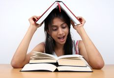 Indian student studying. Royalty Free Stock Photography