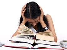 Indian student studying. Royalty Free Stock Images