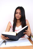 Indian student studying. Stock Photo