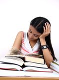 Indian student studying. Royalty Free Stock Photos