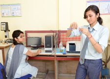 Indian Students In Chemistry Laboratory Royalty Free Stock Photos