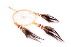 Indian stuff. Dream Catcher, the legend of the American Indians. The web of it would filter all dreams and allow only the good dreams to flow through the woven Royalty Free Stock Photos