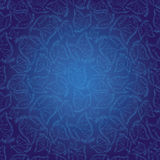 Indian style blue seamless pattern wallpaper Royalty Free Stock Images