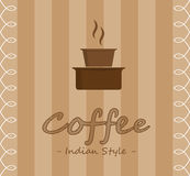Indian style coffee Royalty Free Stock Photography