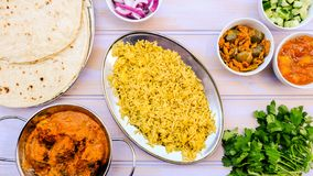 Indian Style Kofta Curry With Pilau Rice