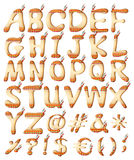 Indian style letters of the alphabet Royalty Free Stock Images