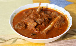 Indian style mutton curry Stock Image
