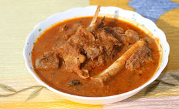 Indian style mutton curry Royalty Free Stock Photos