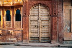 Indian style old house. Exterior royalty free stock photography