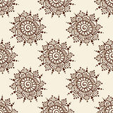 Indian style seamless pattern with ethnic flowers. Royalty Free Stock Photos