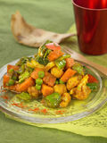 Indian-style spicy vegetables Stock Images