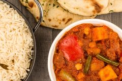 Indian Style Vegetarian Masala Curry Royalty Free Stock Images