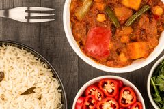 Indian Style Vegetarian Masala Curry Royalty Free Stock Image