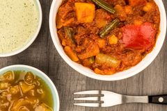 Indian Style Vegetarian Masala Curry Royalty Free Stock Photography