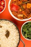 Indian Style Vegetarian Masala Curry Stock Photos
