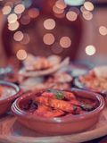 Indian subcontinent Authentic chicken curry royalty free stock photo