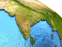 Indian subcontinent on Earth Stock Photos