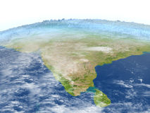 Indian subcontinent on planet Earth Stock Photos