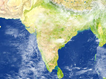 Indian subcontinent on planet Earth Royalty Free Stock Photo