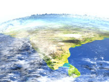 Indian subcontinent on planet Earth Royalty Free Stock Photography