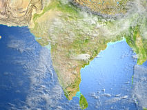 Indian subcontinent on planet Earth Stock Image