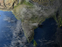 Indian subcontinent on planet Earth Stock Photography