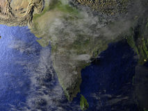 Indian subcontinent on realistic model of Earth Stock Image