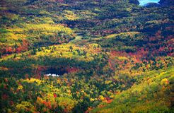 Indian summer, Acadia Park, Maine. Beautiful view of the Acadia park, Maine Royalty Free Stock Images