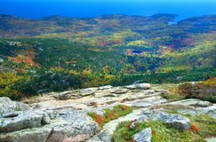 Indian summer, Acadia Park, Maine Stock Image