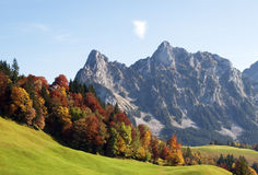 Indian summer in alps Royalty Free Stock Image