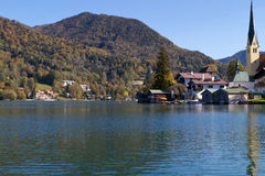 "Indian Summer on Lake ""Tegernsee"" in Bavaria Stock Photo"