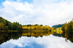 Indian Summer Lake. Indian Summer at the Pfalz royalty free stock photo