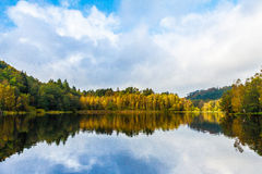 Indian Summer Lake. Indian Summer at the Pfalz stock images