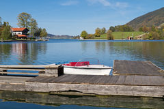 "Indian Summer on Lake ""Tegernsee"" in Bavaria Royalty Free Stock Photography"
