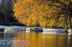 Indian summer in the Pyrenees catalan, Spain Royalty Free Stock Images