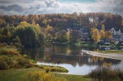 Indian summer. River Berezina. City of Borisov. Belarus. Royalty Free Stock Image