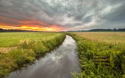 Free Indian Summer River Landscape Royalty Free Stock Photos - 142807088