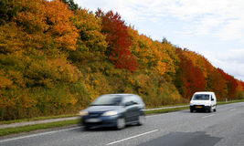 Indian summer road Royalty Free Stock Image