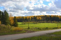 Indian summer. Russian open spaces. Royalty Free Stock Image