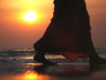 Indian sunset. Sunset in Indian ocean. Goa Stock Photography