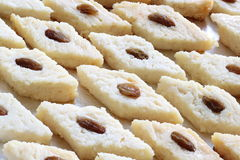 Indian sweet Bengali steamed Bhapa sandesh. Indian sweet. Bengali steamed bhapa sandesh. Raisin has been used for garnishing Stock Photography