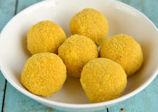 Indian Sweet - Besan laddo Royalty Free Stock Photography