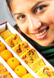 Indian sweet box Royalty Free Stock Photo