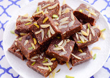 Indian Sweet- Chocolate Barfi Royalty Free Stock Photography